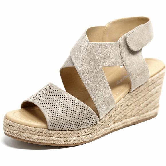 c836009546a Clay Strappy Espadrille Platform Wedge Sandals NIB Boutique